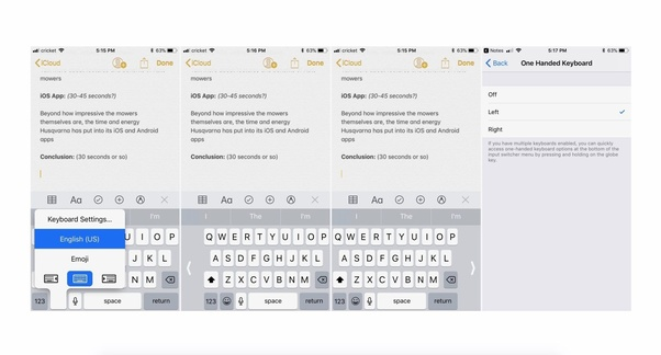 What is the purpose of iOS's aligned keyboards feature? - Quora