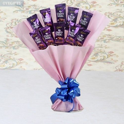 Loving Gesture Of Dairy Milk Bouquet