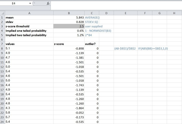 How to find outliers in Excel - Quora