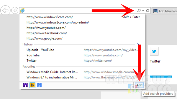 How To Get To Google In Internet Explorer 11 When I Type