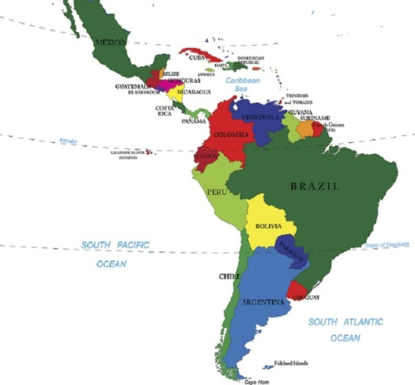Latin America South America Map.Is There A Difference Between Latin America And South America Quora