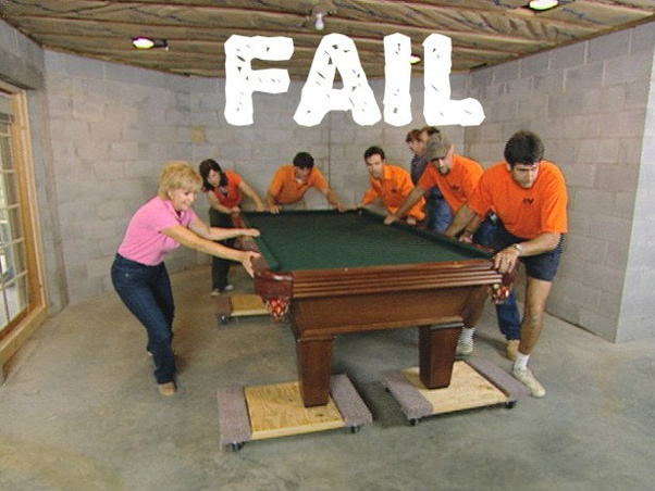 How Much Does It Cost To Move A Pool Table Quora - How To Move A Slate Pool Table In One Piece