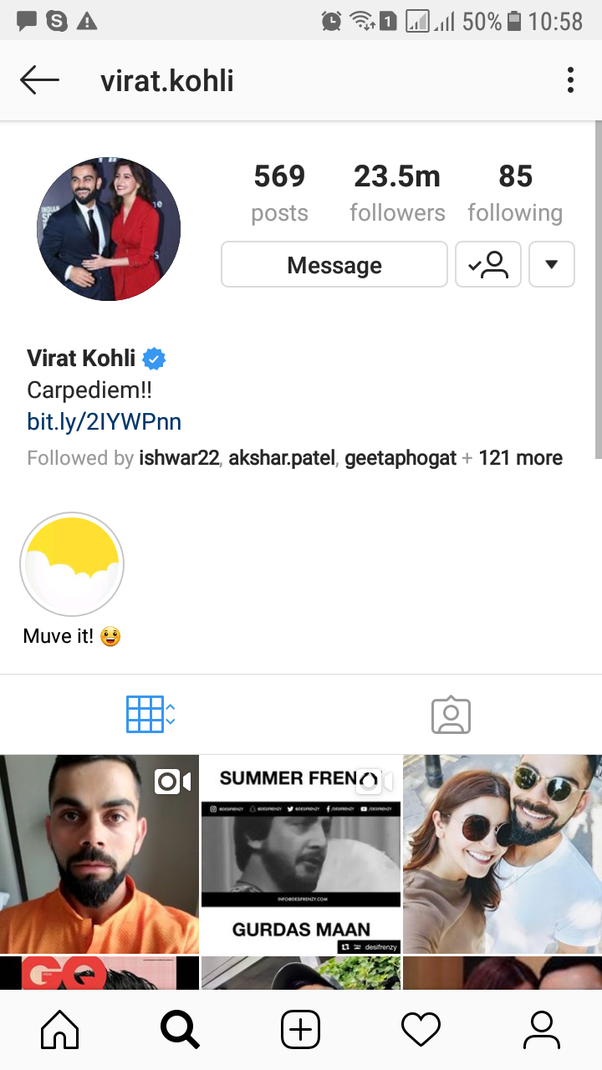 Who is the most followed male star on Instagram in India