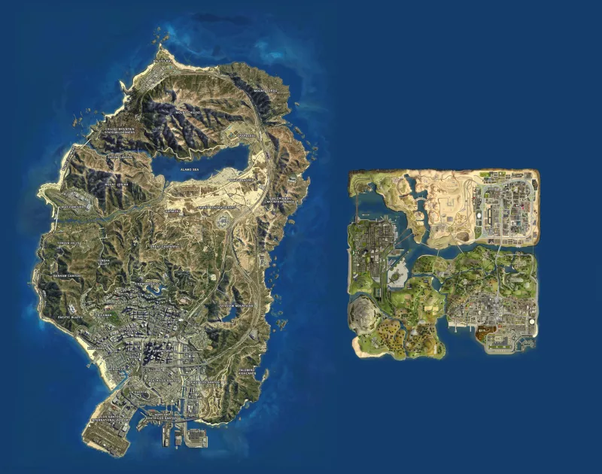Which game has the bigger map, GTA SA or GTA 5? - Quora