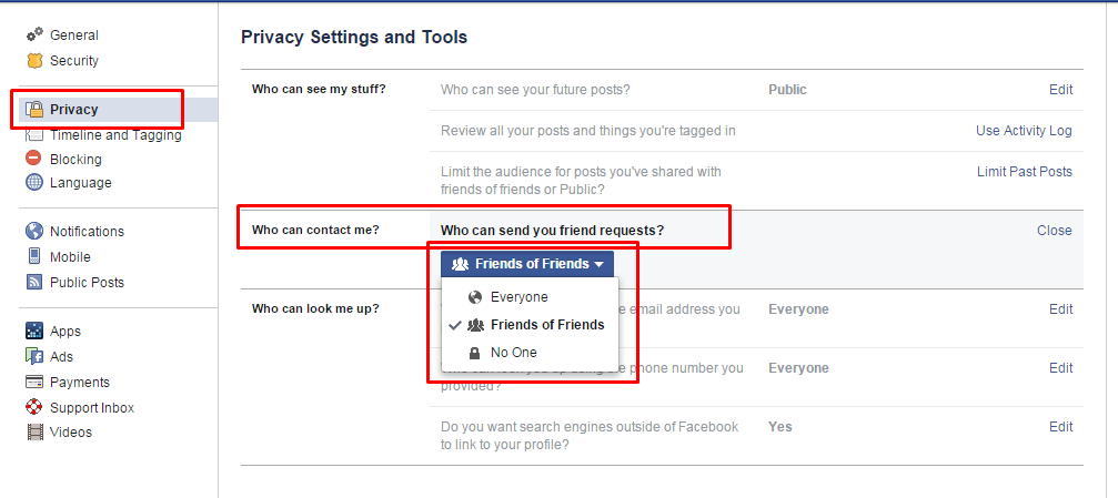 Friend request removed facebook