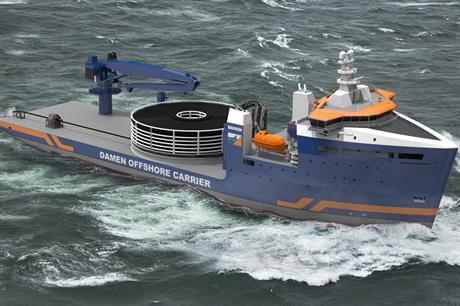 kapal yang menarik kabel bawah laut