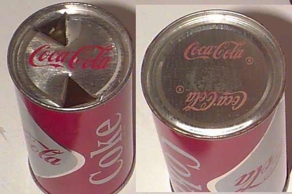 Foto van oud type colablik. Bron Quora: https://www.quora.com/Was-the-soda-can-tab-really-invented-to-hold-the-straw-in-place
