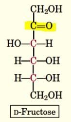 i have highlighted the functional groups in these pictures of the linear structures of the two sugars