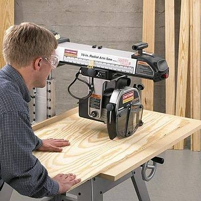 Most Radial Arm Saws Have Clamps Built In To Hold The Rear Table And Fence  Against The Fixed Front Table, Which Allows You To Reconfigure The Tables  And ...