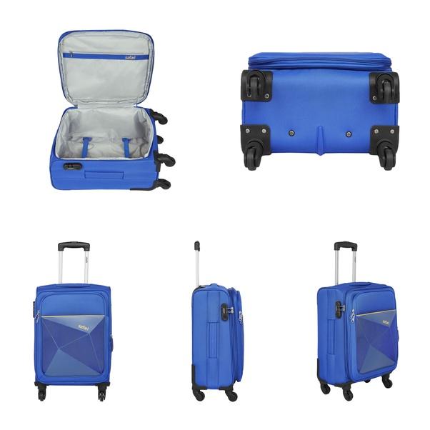 0b12e7e7e 3. Safari Polyester 77 cms Blue Softsided Check-in Luggage (PRISMA754WBLU)