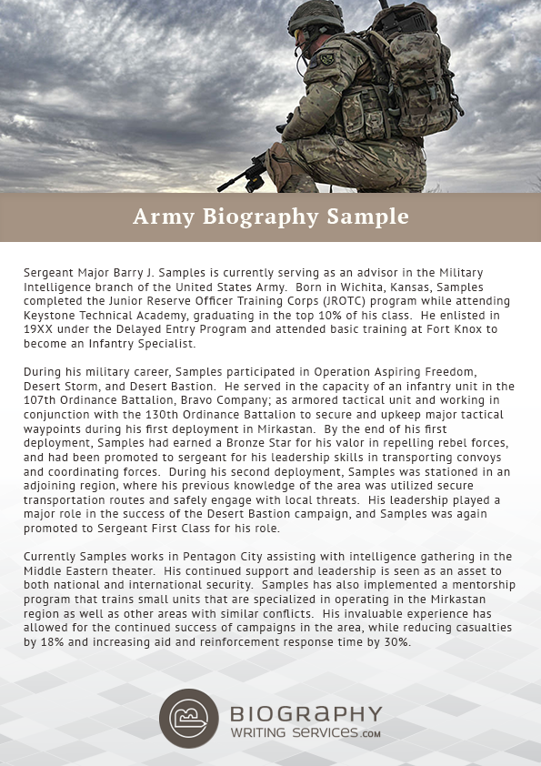 Military Officer Biography Sample