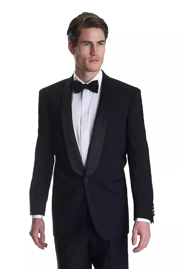 Is a black suit (as opposed to a tuxedo) adequate for a black tie ...