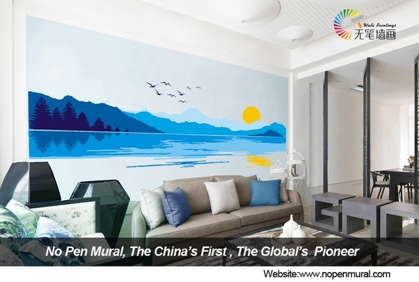 A Genius And The Global Exclusive Home Decoration Product With It People Can Finish Gorgeous Full Wall Painting 2 Hours Even Without Any