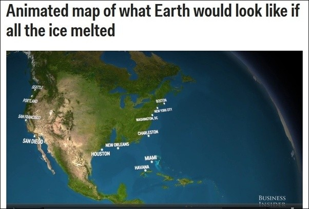 what would happen if all of the ice in the world melted all at once quora