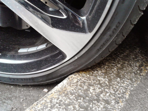 Does it harm modern tires to park your car with two wheels