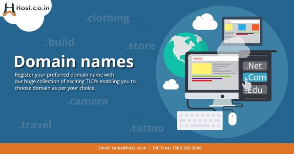 how to register a website domain name in india