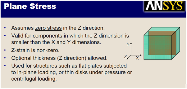 Solid Mechanics: What are the differences between plane stress and