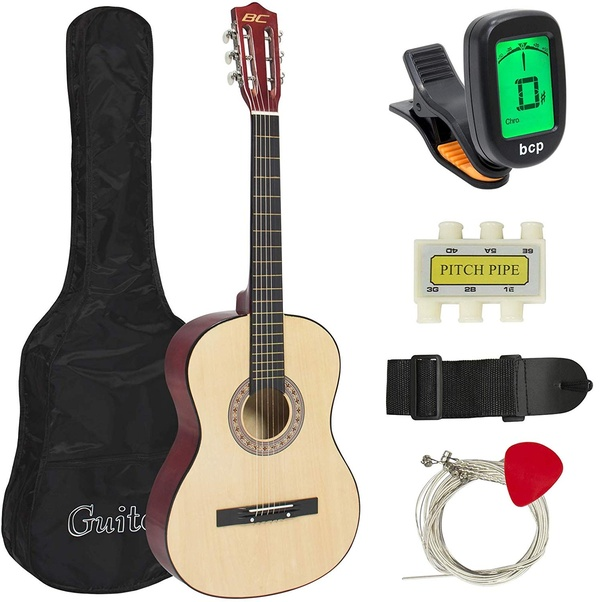 Price 40 Best Choice Products 38in Beginner Acoustic Guitar Bundle Kit W Case Strap Tuner Pick Pitch Pipe Strings