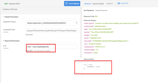 Is there a API to validate JSON format? - Quora