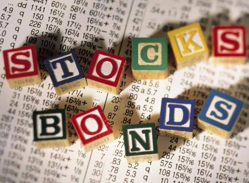 bonds and stocks spelled in block letters
