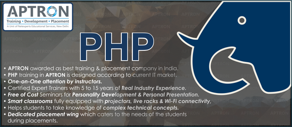 Which is the best institute for php training quora aptron provides php training in gurgaon this is right place for enhance your practical skills because aptron here provides live project 10 carporate fandeluxe Image collections
