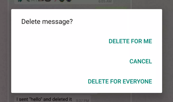 Why can't I delete one person's message on Messenger? - Quora