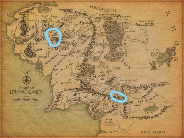 How Far Is Osgiliath From Minas Tirith Quora