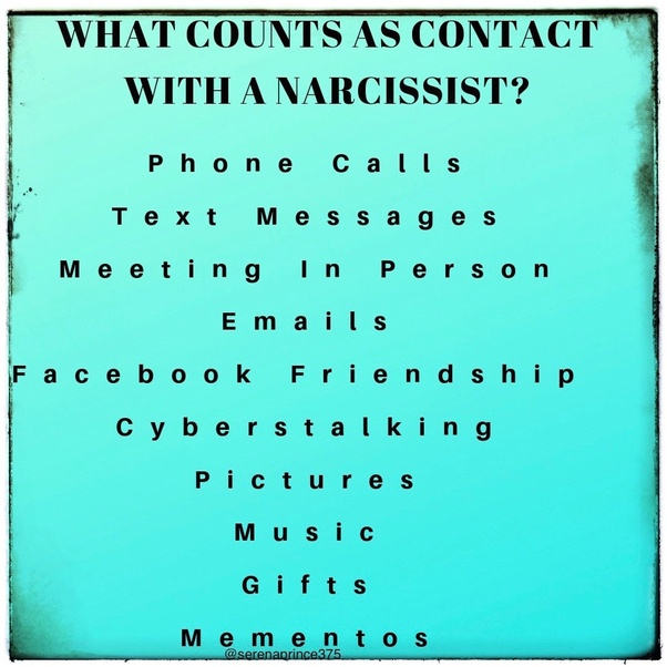 Contact works no with narcissist why How No