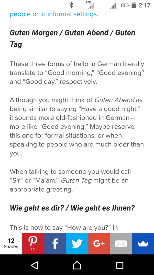 How To Say Hi In German Quora