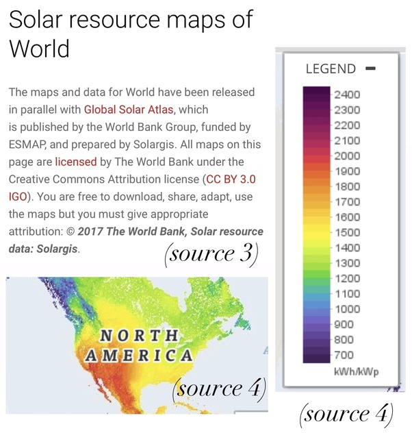 How are peak sun hour of an area calculated using global solar ... Calculate Map on