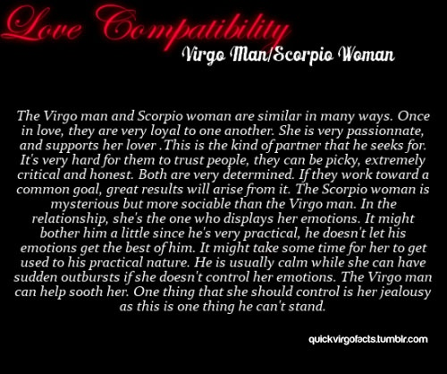 What is the compatibility of a Virgo boyfriend and a Scorpio