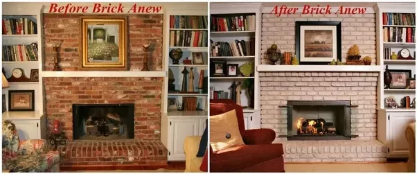 How to update a red brick fireplace quora if you are afraid that once you paint brick its hard to go back but here is some food for thought if your brick fireplace is ugly youve got a few solutioingenieria Gallery