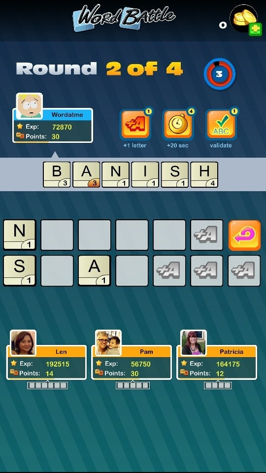 Android scrabble app not working