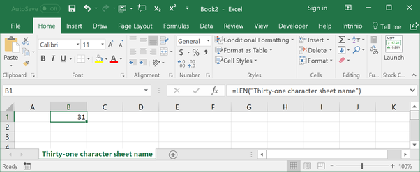 How to expand the character limit for worksheet tabs in Excel 2016 ...