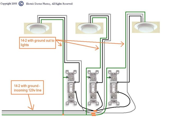how to connect a 3 gang light switch  quora