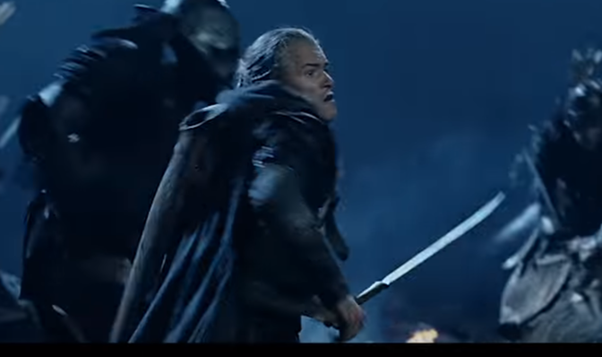 How does Legolas get arrows for his quiver in LOTR after ...