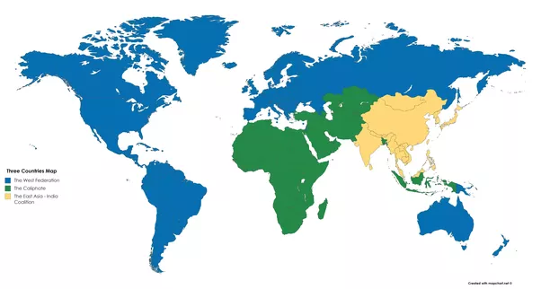 Imagine if only three countries are allowed across all the map created with mapchart gumiabroncs