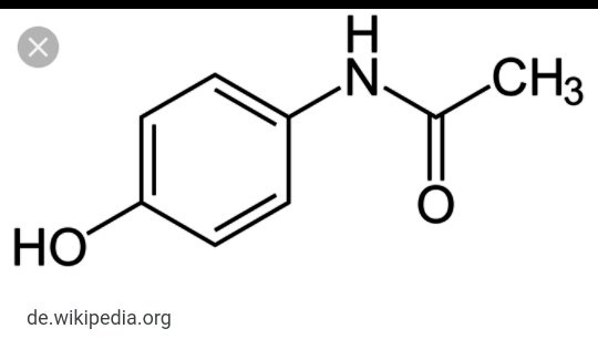 if you look at paracetamol structure it contains 2 functional groups which are named as phenol and and amide