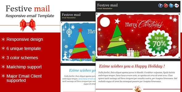 Best Christmas Email Templates Collection Bootatrap WordPress - Mobile friendly email templates