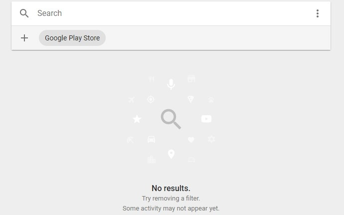 How to clear the records that Google play store stored, like