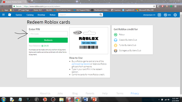 I am going to buy a card on Roblox. How do I redeem it by ...