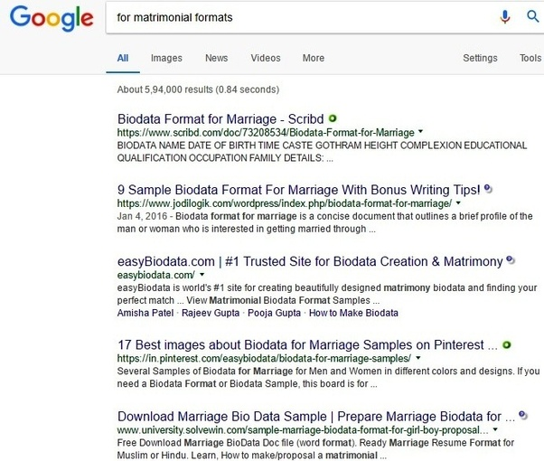 Where can I get good templates to create biodata for matrimonial ...