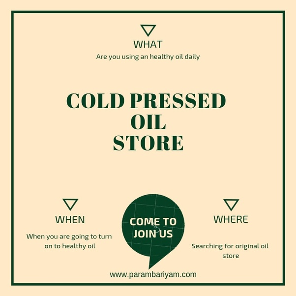 Where can I find cold pressed oils in Bangalore? - Quora