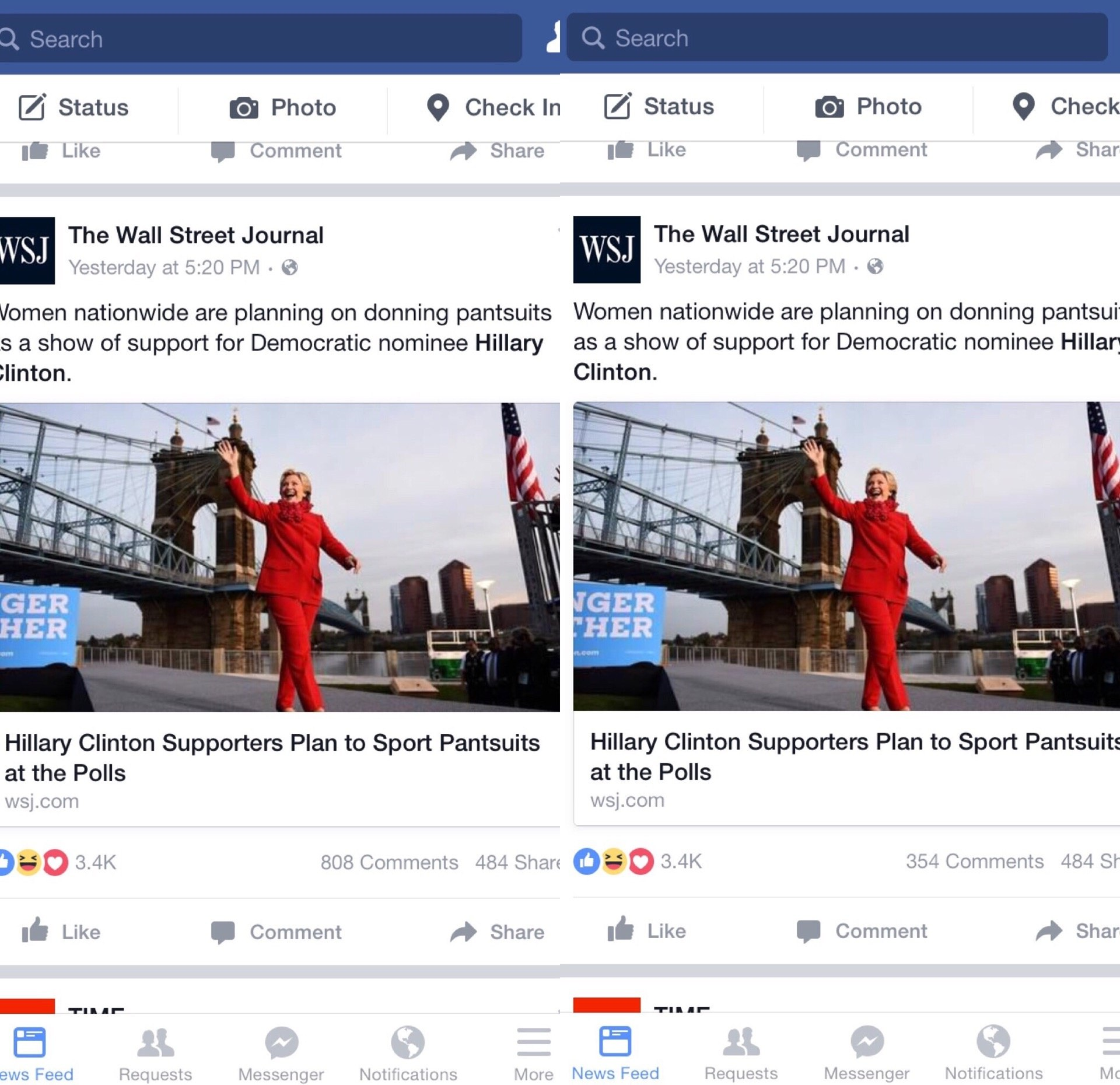 facebook comments disappear and reappear