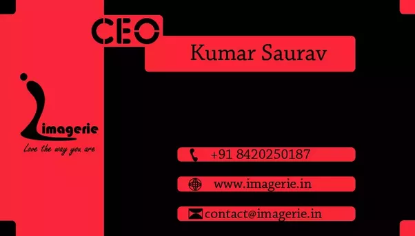 How to design a creative business card quora back side of the business card reheart Choice Image