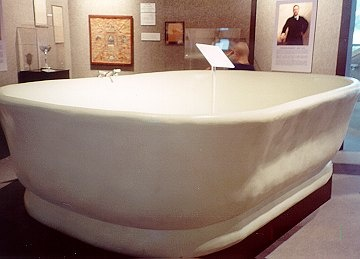 On Removal Of The Tub From The White House It Cracked And Broke. A Replica  Of The Tub Was Put On Display In The Smithsonian.