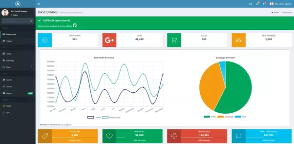 What is the best admin template based on Vue.js? - Quora