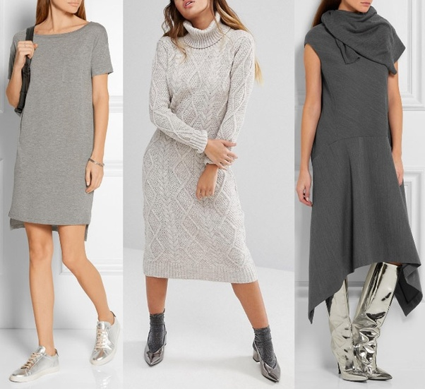0f0f20339b359 What Color Shoes To Wear With Grey Dress - Dress Foto and Picture