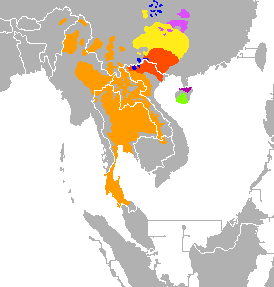 What Language Family Is Thai In Quora - Language family map