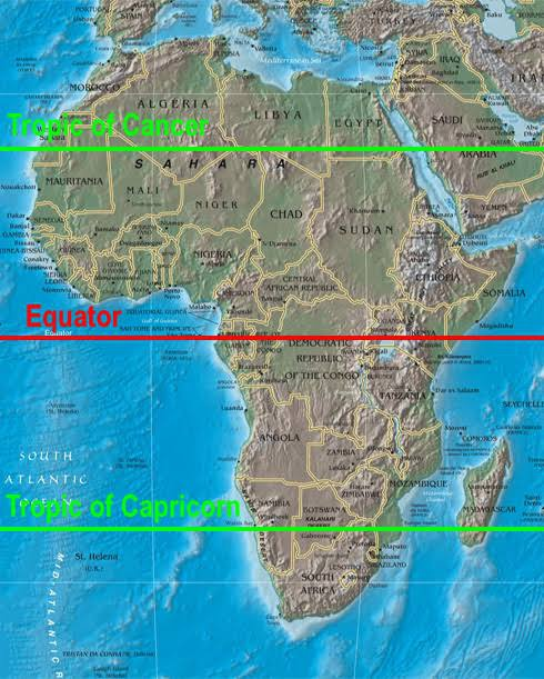 Map Of Africa Equator.What Are The Countries In Africa That The Tropic Of Cancer Passes